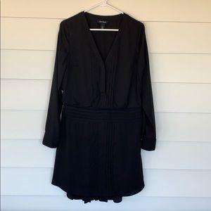 WHBM Long Sleeved Black Dress
